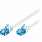 Cable UTP Flat CAT 6a U/UTP 2m White