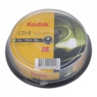 CD-R 52x Kodak 700MB 10-Pack CakeBox