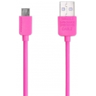 Charging Cable Remax Micro USB Pink 1m LIGHT