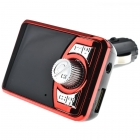 FM Transmitter Car MP3/FM/BT Player + Charger Red