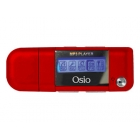 Mp3 Player Fm Radio Osio 4GB Οθόνη LCD Red