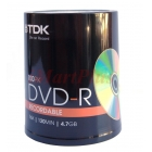TDK DVD-R Pack 4.7GB Blank Recordable 100PK