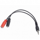 Cable 3,5mm Audio+Microphone Adapter 0.2m