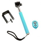 POWERTECH Selfie Stick + Bluetooth adapter, Μπλε