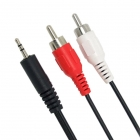 Cable 2 x RCA Male / Jack 3,5mm Male - 3m