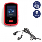 Mp4 Player Fm Radio Osio 8GB Οθόνη TFT 1,8 Red