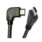 Cable HDMI (Μ) 19pin 1.4V, 1.5m, 90° left 1.5m Black