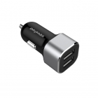 Charger Adapter Car iMyMax 5V/3.4Α Smart IC 2 Usb Black