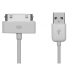 Cable Charger-Data USB 2.0 to i-Phone 4/4S 1m White