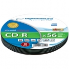 CD-R 700MB/80min, Esperanza 52x Speed, Soft Pack 10τ
