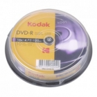 DVD-R Kodak 16x 4.7GB 10Pack CakeBox