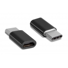 Adapter USB Type-C To Micro USB Black
