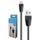 Cable Charger-Data USB 2.0V Micro USB Type-B 1m Blk