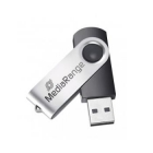 USB Flash Drive 2.0 Media Range 8GB Black/Silver