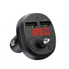 FM Transmitter Car Hoco E41 MP3/FM/BT Player + Charger Black