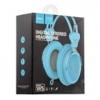 Headphone Hoco W5 With Mic Blue