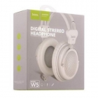 Headphone Hoco W5 With Mic White&Black