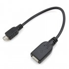 Cable Micro USB To USB OTG Black 17.5cm