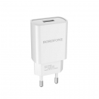 Charger Adaptor Travel Borofone BA20A USB 5V/2.1A White
