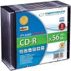 CD-R 700MB/80min 56x Speed Slim Jewel Case 10τμχ.
