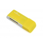 Mini Card Reader Powertech Usb Yellow