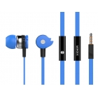 Handsfree Microphone Celebrat D1 on/off 10mm, 1.2m Flat Blue