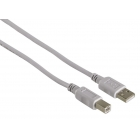 Cable Powertech USB 2.0 To Type B 1.5m Grey