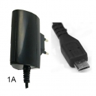 Charger Travel 220 VAC- Micro USB 1A Black