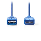 Cable USB 3.0 A Male Micro USB 3.0 B Male 0,5m Blue