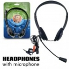 Headset 2x3.5mm Jack Black