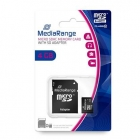 Κάρτα Μνήνης MediaRange Micro SDHC 4GB C10 With SD Adaptor