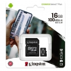 Κάρτα Μνήμης Kingston 16GB microSDXC U1 Select Plus 80R