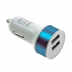 Charger Adapter Car 5V/2.1Α 2*Usb Blue