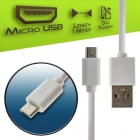 Cable Charger-Data Micro USB 1m White