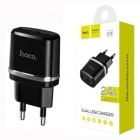 Charger Adaptor Travel Hoco C12 Dual USB 5V/2,4A Black