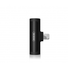 Adapter 2in1 Lightning And Jack 2.1A Black/White