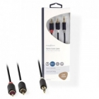Cable 2x RCA M 3,5mm Stereo M Nedis 2m