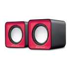 Speaker Element SP-10B V2.0 5WRMS 3.5mm+USB Red