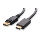Cable DisplayPort 1.2V (M) σε HDMI 1.4V (M) 1m Black