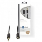 Cable Extender Nedis Audio 3.5mm M To F 1m Black