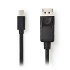 Cable Mini DisplayPort To DisplayPort Nedis 1m Black
