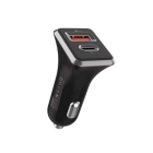 Charger Car WK WP-C19 3.0A 18W USB And Type-C Black