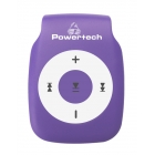 MP3 Player Powertech Rechargeable MicroSD Purple