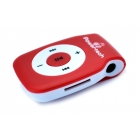MP3 Player Powertech Rechargeable MicroSD Red