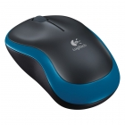 Mouse Wireless Logitech M185 Optical Black/Blue