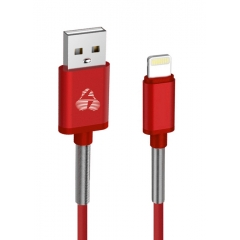 Cable Charger-Data USB σε Lightning 1m Red