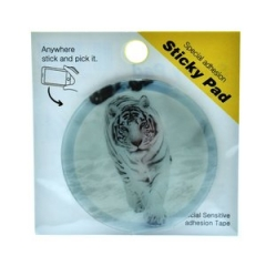 Sticky Pad Smartphone White Tiger
