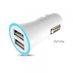 Charger Adapter Car Hoco UC204 2.4Α Dual Usb White