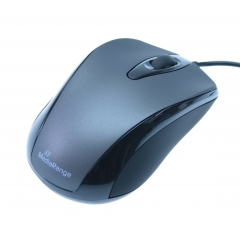 Mouse Wired MediaRange MROS201 Black/Grey