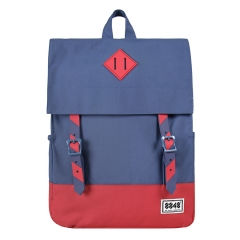 School Backpack Notebook Unisex 15.6 Blue/Red